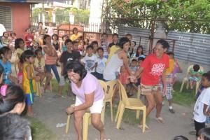 Dancing at the 2015 Cebu City Christmas party