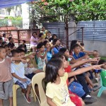 Children singing at the Cebu City Christmas party