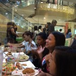Teen trip to Mandaue Cebu mall. Eating in the food court